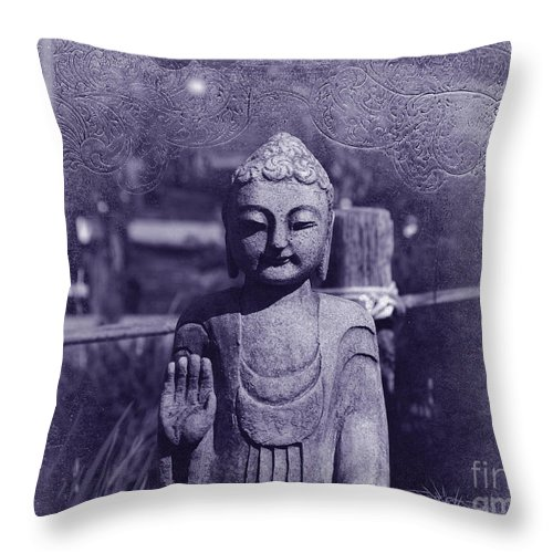 Buddha Throw Pillow featuring the photograph Buddhas Words by Susanne Van Hulst