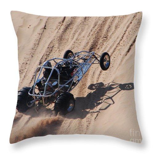 Dune Buggy Throw Pillow featuring the photograph Buggy Climb by Grace Grogan