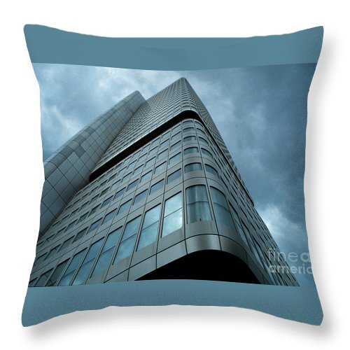 Building Throw Pillow featuring the photograph Building And Sky by Mike Nellums
