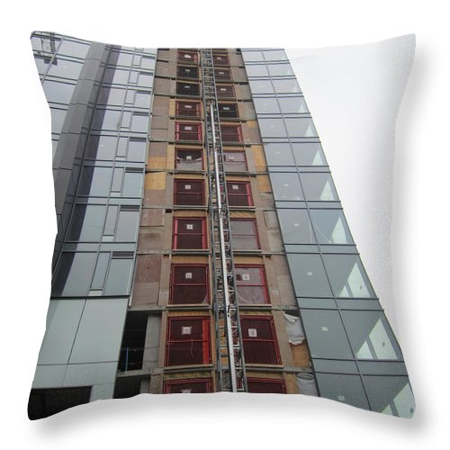 Windows Throw Pillow featuring the photograph Building Up In The City by Kym Backland