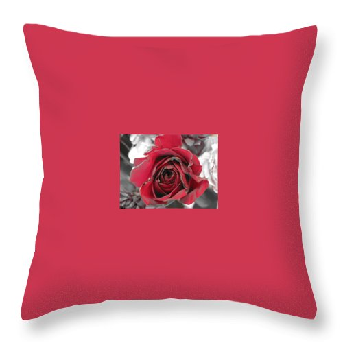 Throw Pillow featuring the photograph Burning Desire by Michele Nelson