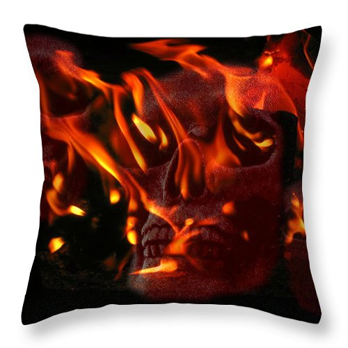 Burning Throw Pillow featuring the photograph Burning Man by Joyce Dickens