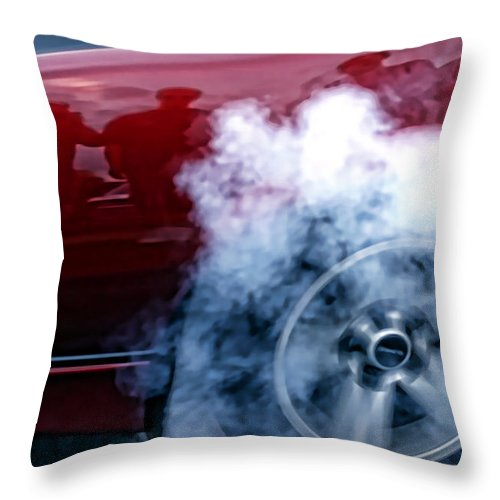 Burnout Throw Pillow featuring the photograph Burnout by Gordon Dean II