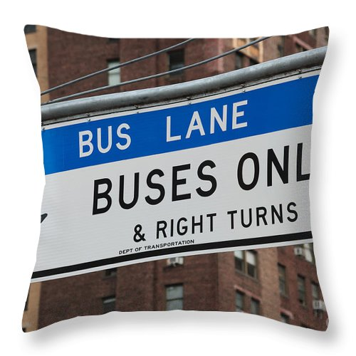 Clarence Holmes Throw Pillow featuring the photograph Buses Only I by Clarence Holmes
