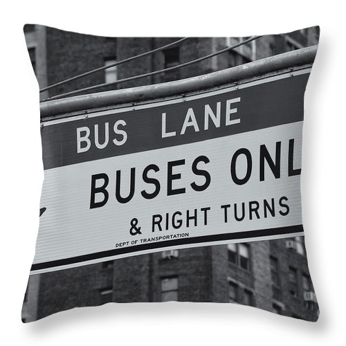 Clarence Holmes Throw Pillow featuring the photograph Buses Only II by Clarence Holmes