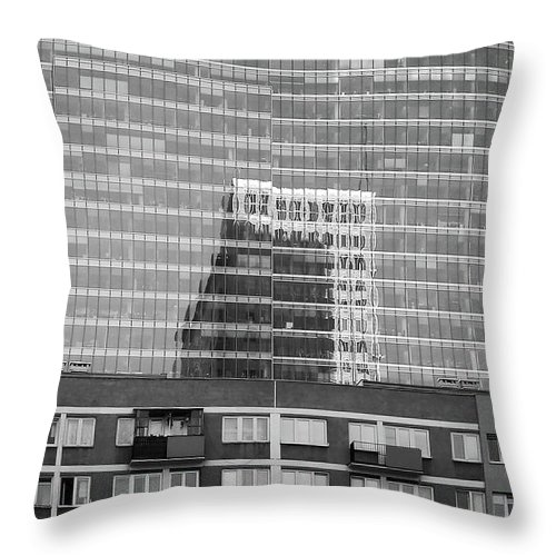 Cityscape Throw Pillow featuring the photograph Business Center by Dariusz Gudowicz