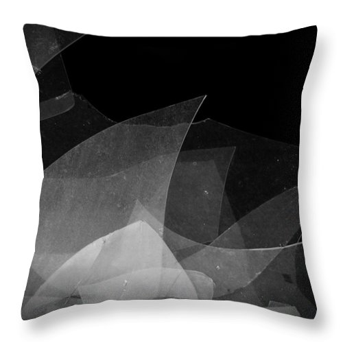 Urban Exploration Throw Pillow featuring the photograph Busted by April Davis