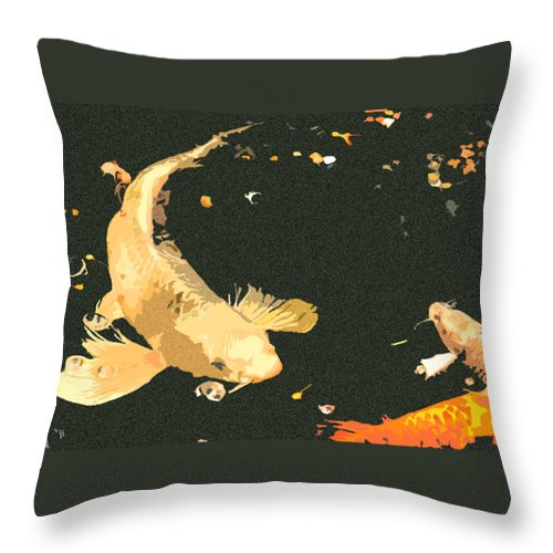 Koi Throw Pillow featuring the photograph Butterfly Koi by Stephanie Haertling
