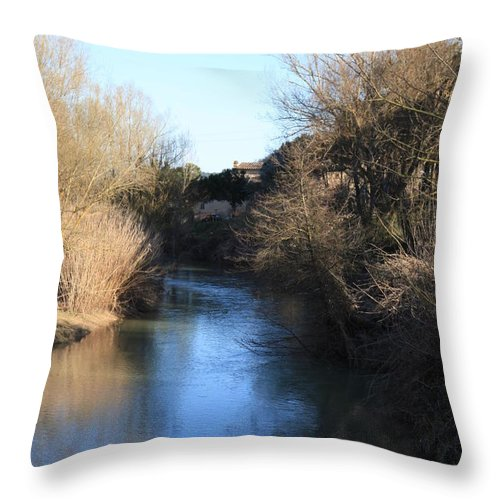 River Throw Pillow featuring the photograph By The River by Francesco Scali