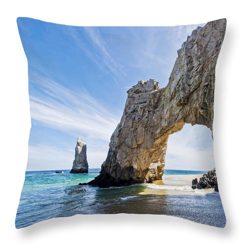 Amazing Throw Pillow featuring the photograph Cabo San Lucas Arch by Mike Raabe