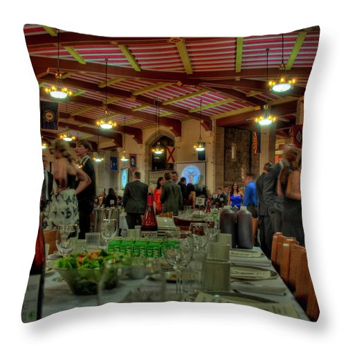 West Point Throw Pillow featuring the photograph Cadet Messhall by Dan McManus