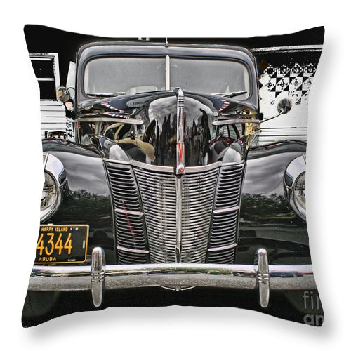 Cars Throw Pillow featuring the photograph Cado1019-12 by Randy Harris