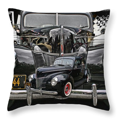 Cars Throw Pillow featuring the photograph Cadp1014a-12 by Randy Harris
