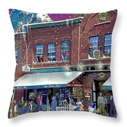 Prints Throw Pillow featuring the photograph Cafe Monte Alto by Nancy Griswold