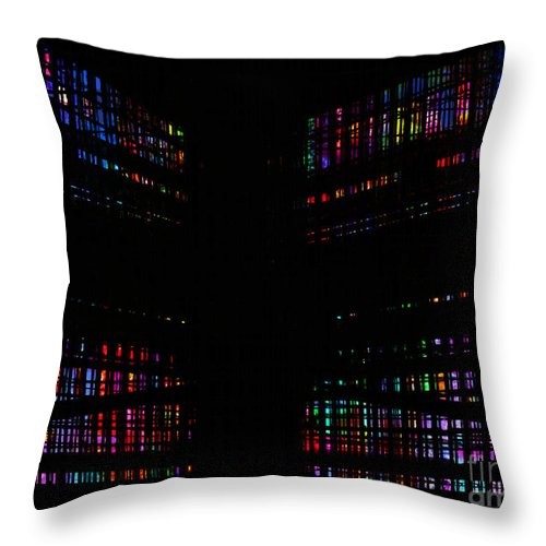 Cage Throw Pillow featuring the digital art Cage 2 by Andy Mercer