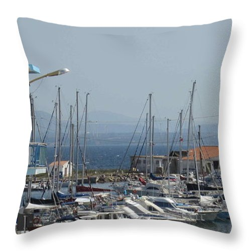 Boats Throw Pillow featuring the photograph Calasetta Sardinia by Len Yurovsky