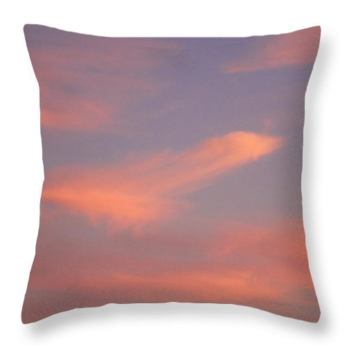 California Sunset Throw Pillow featuring the photograph California Cloudy Sunset by Brooke Roby