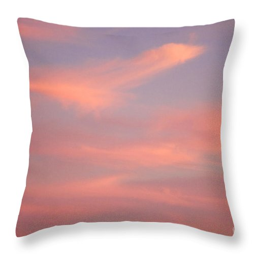 California Sunset Throw Pillow featuring the photograph California Cloudy Sunset One by Brooke Roby