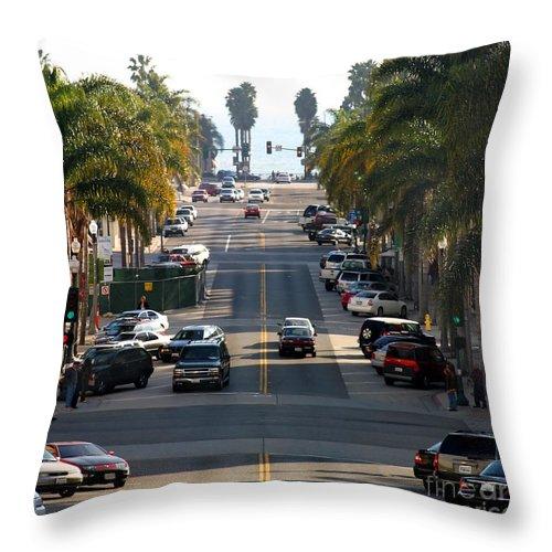 Ventura Throw Pillow featuring the photograph California Street by Henrik Lehnerer