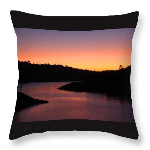 Lake Throw Pillow featuring the photograph California Sunset by Leonard Sharp