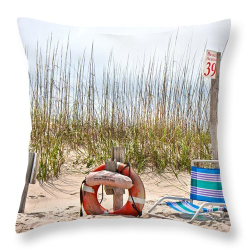 Bald Throw Pillow featuring the photograph Calm By The Sea by Betsy Knapp
