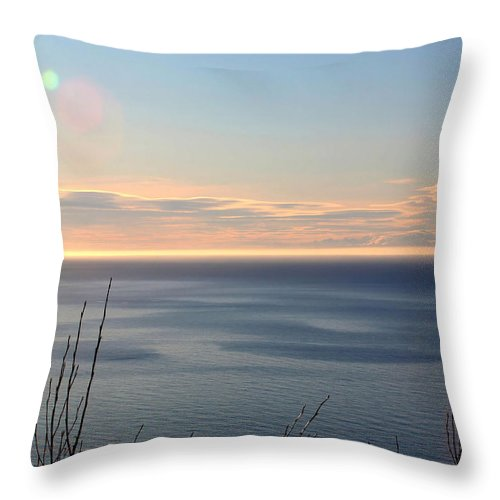 Landscape Throw Pillow featuring the photograph Calm Sea by Michele Cornelius