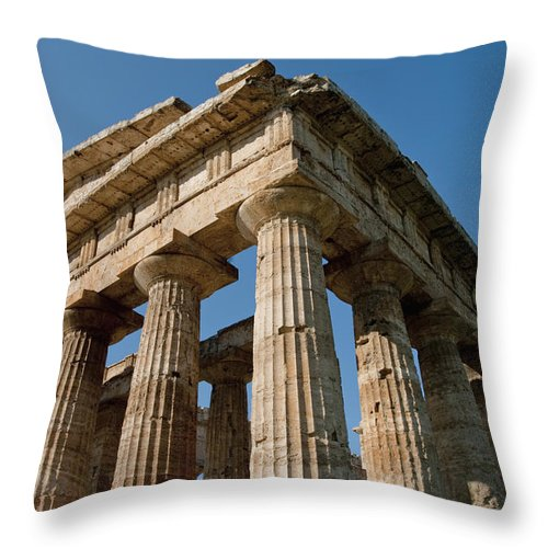 Campania Throw Pillow featuring the photograph Campania Ruins by Axiom Photographic