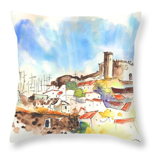 Portugal Throw Pillow featuring the painting Campo Maior In Portugal 02 by Miki De Goodaboom