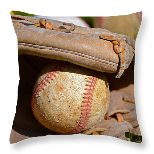 Can Of Corn Throw Pillow featuring the photograph Can Of Corn by Bill Owen