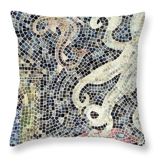 Mosaic Throw Pillow featuring the painting Can You See Me Know by Cynthia Amaral