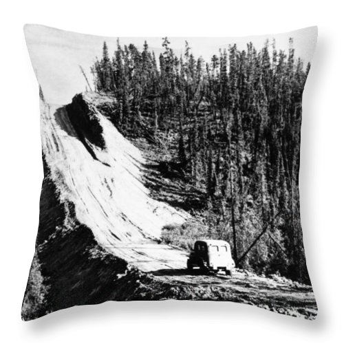 1942 Throw Pillow featuring the photograph Canada: Alaska Highway by Granger