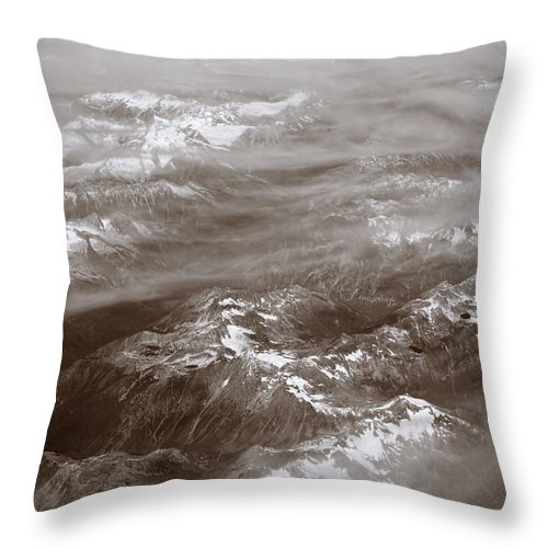 Canadian Rockies Throw Pillow featuring the digital art Canadian Rockies by Diane Dugas