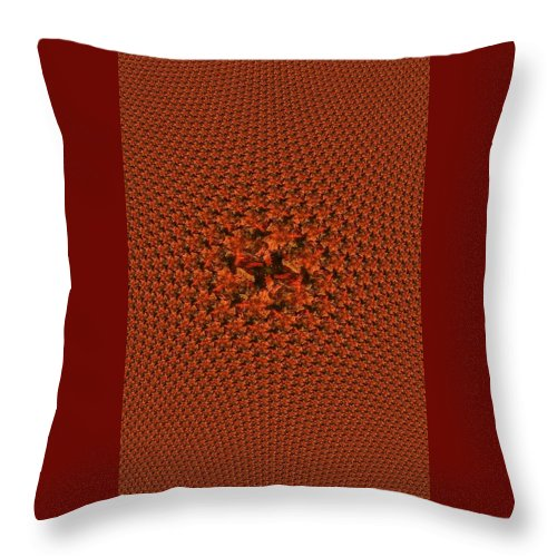 Throw Pillow featuring the photograph Candy Corn by Barbara S Nickerson