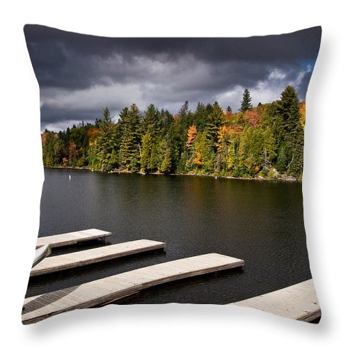 Canoe Throw Pillow featuring the photograph Canoe Lake by Cale Best