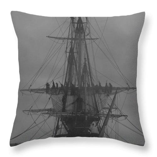 Silhouette Throw Pillow featuring the photograph Canon Smoke - Monochrome by Ulrich Kunst And Bettina Scheidulin