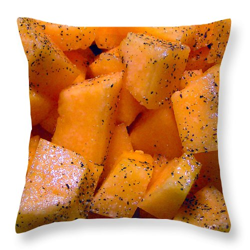 2d Throw Pillow featuring the photograph Cantaloupe by Brian Wallace