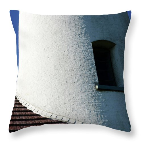 Pacific Ocean Throw Pillow featuring the photograph Cape Blanco Detail by Bob Christopher