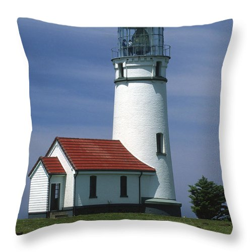 Bronstein Throw Pillow featuring the photograph Cape Blanco Lighthouse by Sandra Bronstein