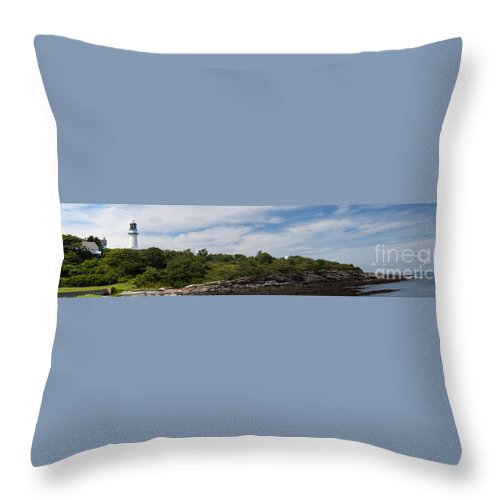 Ocean Throw Pillow featuring the photograph Cape Elizabeth Two Lights Cape Elizabeth Maine by Thomas Marchessault