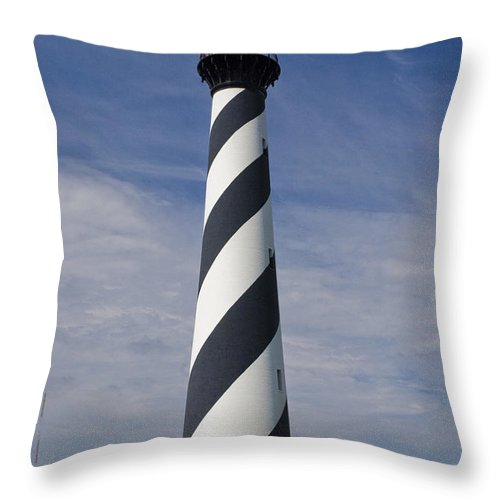 Lighthouse Throw Pillow featuring the photograph Cape Hatteras Lighthouse by Tim Mulina