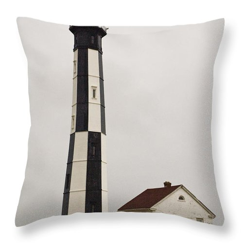 Lighthouse Throw Pillow featuring the photograph Cape Henry Lighthouse by Tim Mulina