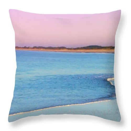 Cape May Throw Pillow featuring the photograph Cape May Light House Panorama by Bill Cannon
