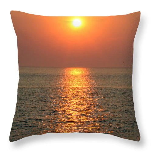Sunset Throw Pillow featuring the photograph Cape May Sunset by Susan Stevenson