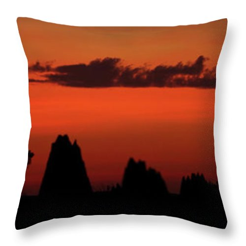 Sunset Throw Pillow featuring the photograph Cape York Sunset by Bruce J Robinson