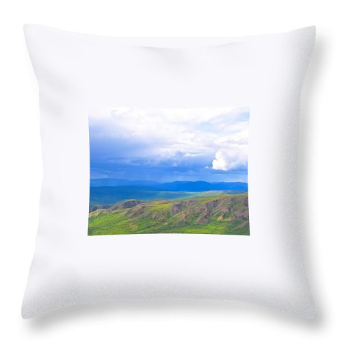 Alaska Throw Pillow featuring the photograph Captivating Showers by Michael Anthony