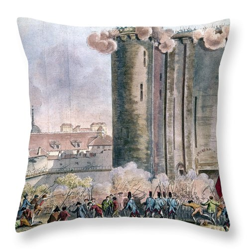 1789 Throw Pillow featuring the photograph Capture Of The Bastille by Granger