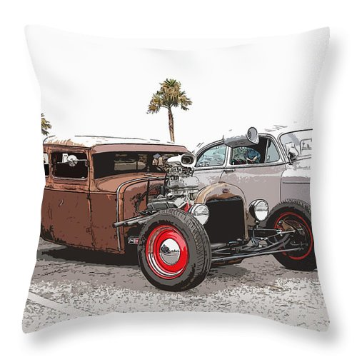 Model A Sedan Throw Pillow featuring the photograph Car Show Cool by Steve McKinzie