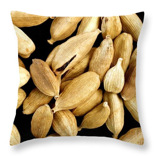 Cardamom Throw Pillow featuring the photograph Cardamom Seedpods by Yali Shi