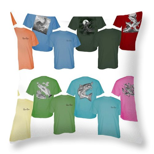 T Shirts Throw Pillow featuring the digital art Carey Chen Fine Art Clothing by Carey Chen