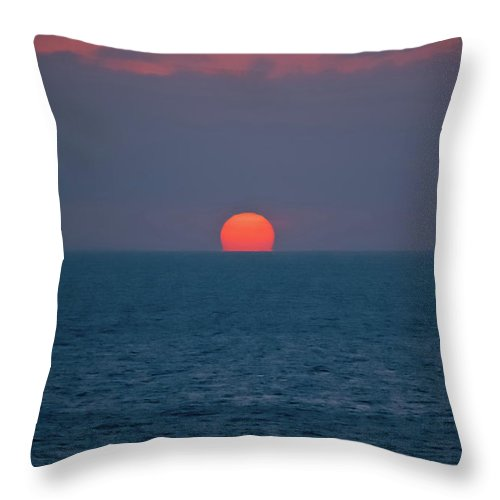 Sunset Throw Pillow featuring the photograph Caribbean Melt by DigiArt Diaries by Vicky B Fuller